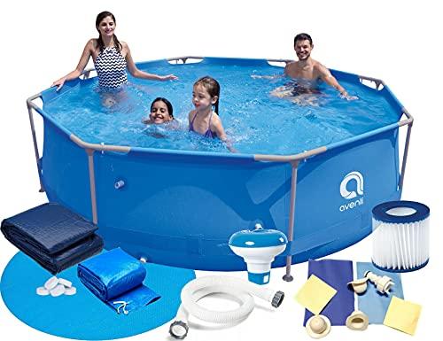 Gartenpool 360x76 cm 12 FT Mega Set 16in1! Pool Avenli Schwimmbad Stahlrahmenbecken Model 2021