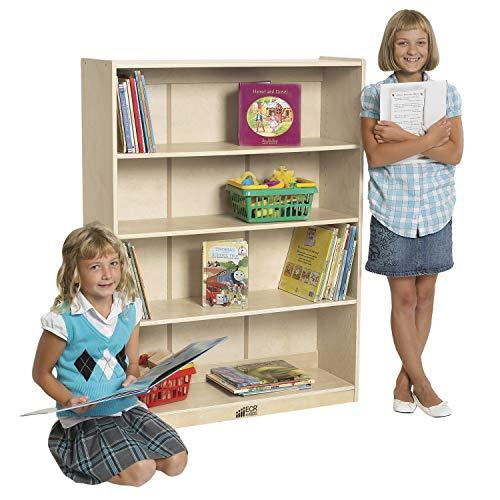 "ECR4Kids Birch Bookcase with Adjustable Shelves, Wood Book Shelf Organizer for Kids, 3 Shelf, Natural, 48"" H"