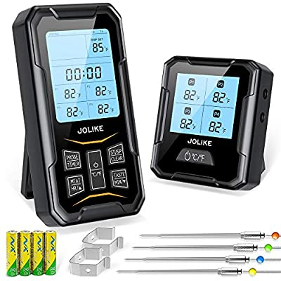 JOLIKE Wireless Meat Thermometer Oven Thermomet...