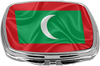 Rikki Knight Flag Design Compact Mirror, Maldives, 3 Ounce
