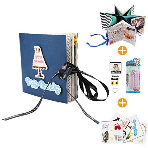 Amycute Kreative DIY Scrapbooking Fotoalben Geschenk, Faltendes Fotoalbum, Handgemachtes Scrapbook,DIY Geschenk für Hochzeitstag Muttertag Geburtstag Jubiläum Weihnachten Danksagung.