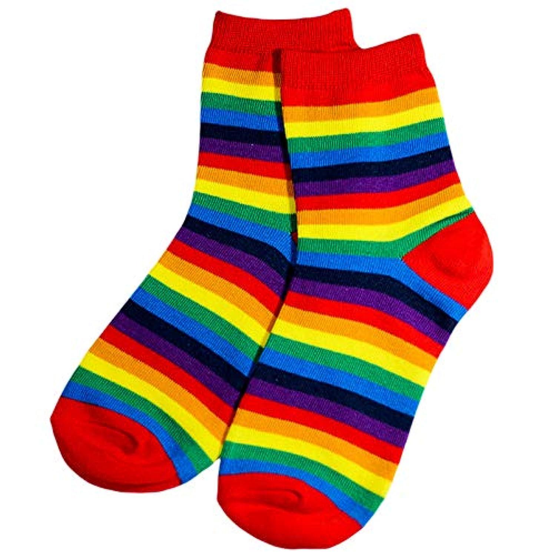 女性 短い靴下 ソックス 虹 綿 柔らかい 透気 くるぶしの靴下 レジャー 春夏