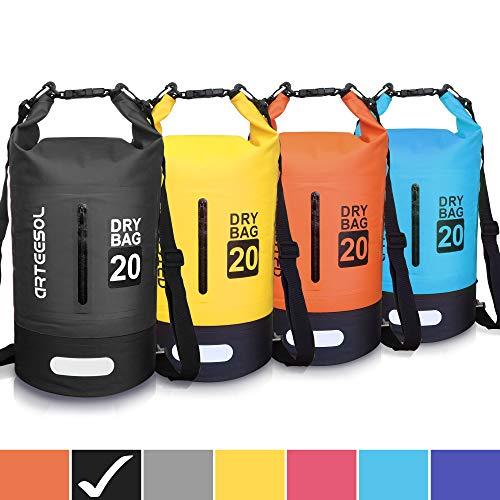 arteesol Dry Bag - 5L 10L 20L 33L Waterproof trockener Beutel/Sack wasserdichte Tasche mit Langem justierbarem Bügel für Kayaking Boots-Ausflug Kanu/Fischen/Rafting/Schwimmen/Snowboarding