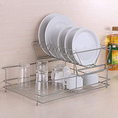 FEE-ZC Praktische Küchenregale aus Edelstahl, Abtropfgestell für Geschirr, Besteckständer für Geschirr, Küchenorganisator