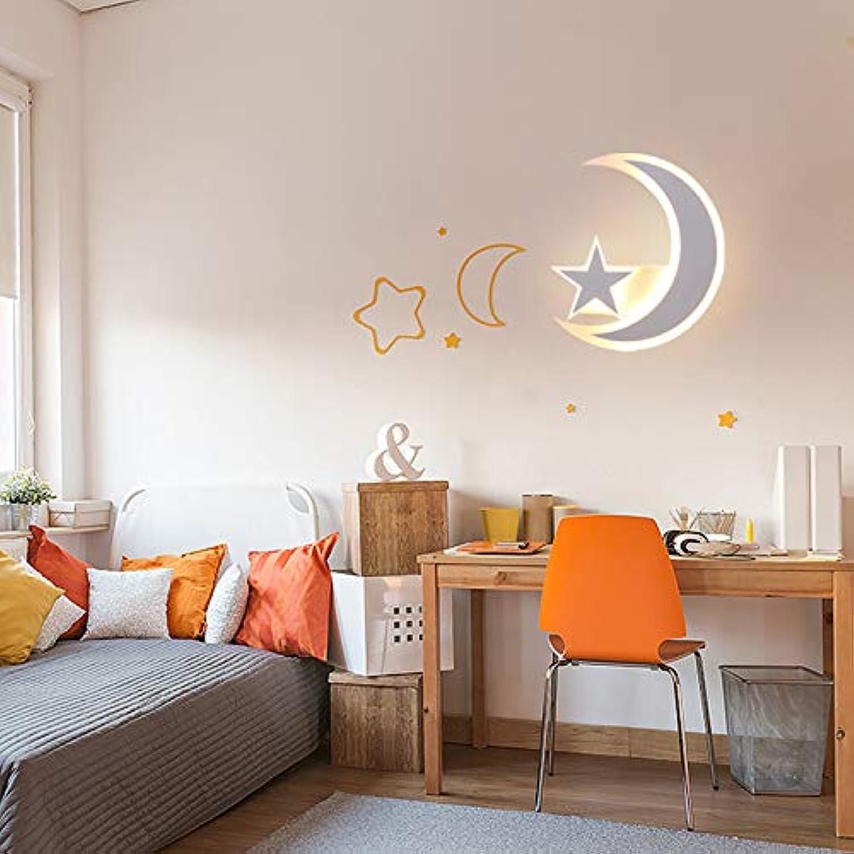 Wandleuchte, Kinderzimmer, Schlafzimmer Nachttischlampe, kreative Persnlichkeit, modern, minimalistisch, Cartoon-Mond, Junge, dekorative Wandleuchte-three-Farbelight