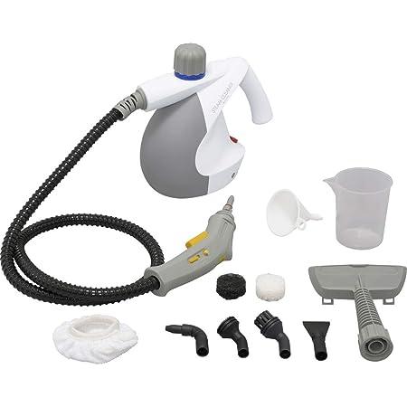アイリスオーヤマ 除菌 掃除 年末清掃 スチームクリーナー コンパクトタイプ 16点セット 120cmロングホース 消臭 軽量 ホワイト STM-304N-W