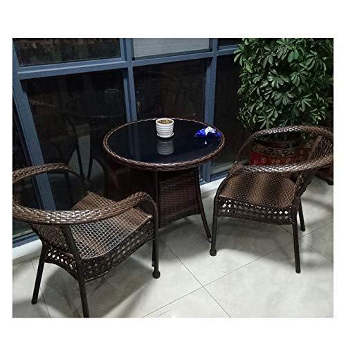 Conjunto de muebles de patio y silla de mimbre Rat Juego de muebles de jardín de ratán Conjunto de muebles de patio Muebles de muebles conjuntos de mesa con conversación de mesa de centro de vidrio Me