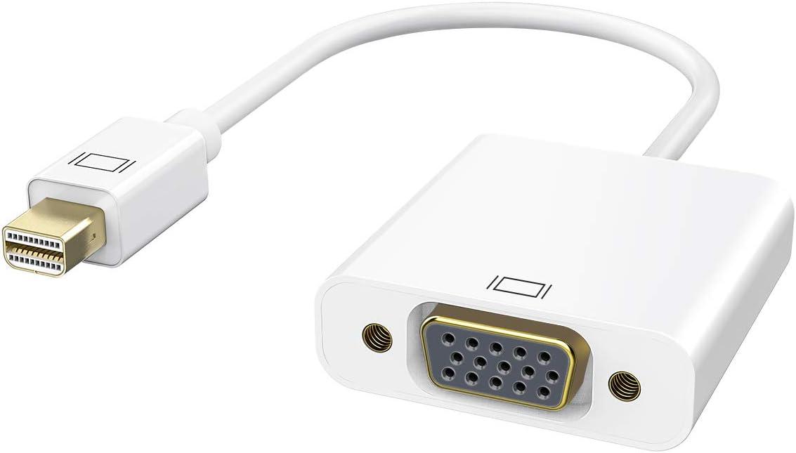 Thunderbolt Port Mini Displayport to VGA Display Port Adapter Cable for Apple Mac MacBook Pro Air iMac