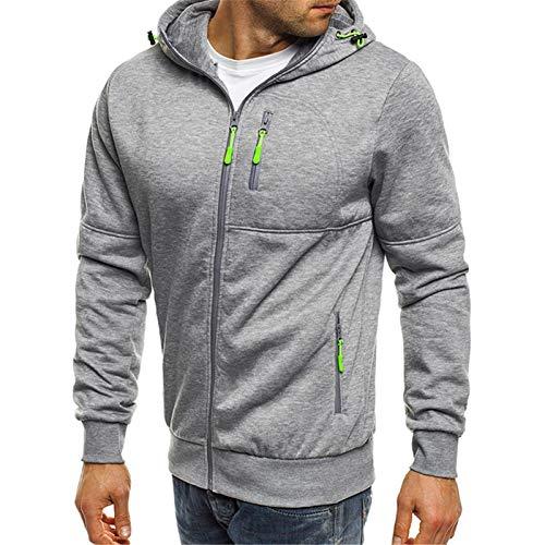 Derrick Aled(k) zhuke Otoño e Invierno Deportes al Aire Libre Chaqueta de Punto con Capucha suéter Informal Multicolor para Hombres