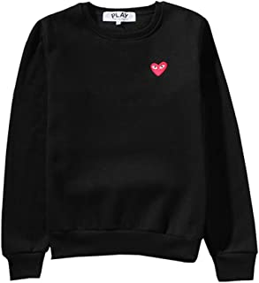 Comme des Garcons PLAY Red Heart Embroidery Plus Round Neck Hoodie for Men and Women Unisex