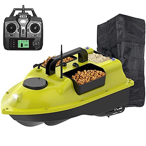 Dr.FITNESS Barca Telecomandata Esca con GPS 3 Tramogge per Esche RC Barchino Carpfishing Professionale per Appassionati di Pesca e Pescatori Carico di 2 kg