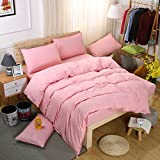 Used for Bed Solid Color Four-Piece Aloe Cotton Student Dormitory 2.0m Four-Piece Set