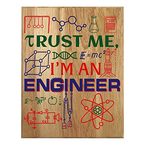 QUMO Engineer Gifts for Men | Women | Funny | Him | Her | Plaque | Wooden Sign | Office | Christmas | Wall Art