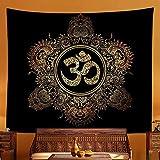 Símbolos Budistas Indios Tapiz Mandala Psicodélico Bohemio Hippie Trippy Tapiz De...