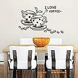 Swiftswan Vinilo Respetuoso con el Medio Ambiente, Negro, Amor, café, Tatuajes de Pared Bonitos y Decorados, Adhesivos de Pared para Cuarto de baño