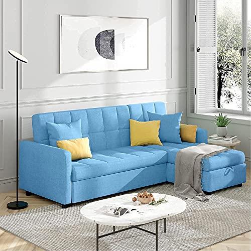 POVISON Sectional Sleeper Sofa, 82