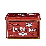 New English Teas Vintage Tea Tin with 40 English Breakfast Teabags