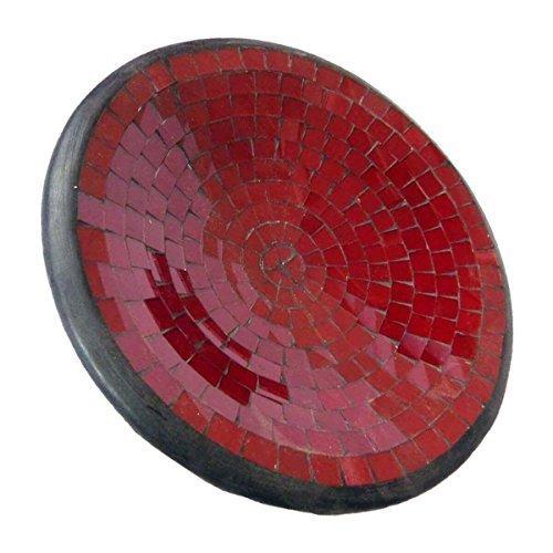 Simandra Mosaikschale Tonschale Glasschale Dekoschale Mosaik Kunsthandwerk Glassteine Deko rund XL Color Rot