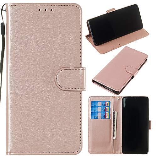 Capa carteira de couro PU premium de cor sólida clássica flip da XYX para Sony Xperia XZ2 Premium (ouro rosa)