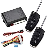 Universal Car Keyless Entry System, Vehicle Remote Central Control Box Kit with 2 Keys for Security Door Lock/Unlock Auto Window Output & Trunk Release