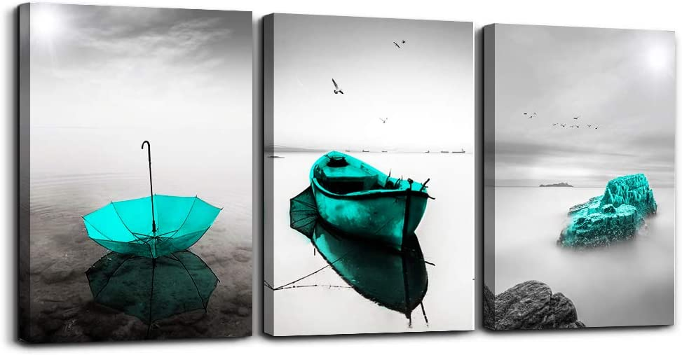 Black and Translated white Cash special price landscape Pictures Canvas Pr Green Blue Umbrella