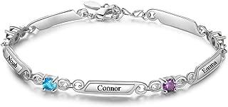 engraved bracelets with birthstone