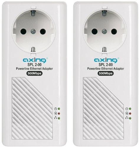 axing SPL 2-00 SPL 2-00 Powerline Ethernet Adapter - Adaptador de comunicación por línea eléctrica (500Mbit/s)