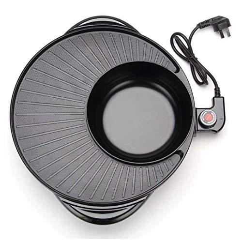 GZSZ Olla Caliente eléctrica para Interior, Parrilla para Barbacoa, Olla Shabu, Parrilla eléctrica para Hornear, Cacerola integrada -Uso Doméstico