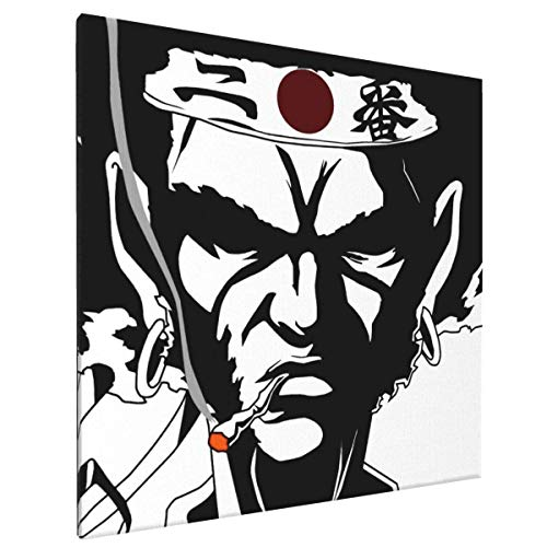 FJJJ Lienzo de Arte de Pared Enmarcado Hero Academi-a Shoto Todoroki Giclee Prints Artwork Pictures Modern Wall Decor for Bedroom Living Room Office Home Ready to Hang,Smoking Samurai Afro,One Size