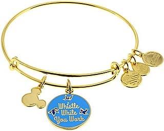 Alex and Ani Disney Parks Whistle While You Work Charm Bangle Bracelet