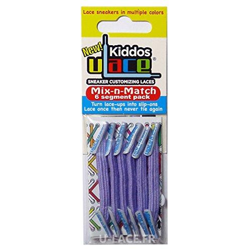 U-LACE - KIDDOS Lacets élastiques pour enfants de 3 à 7 ans - 14 Couleurs disponibles - (LAVENDER - Lavande) ATTENTION: 2 sachets au minimum pour une paire de baskets. Comptez bien les oeillets!