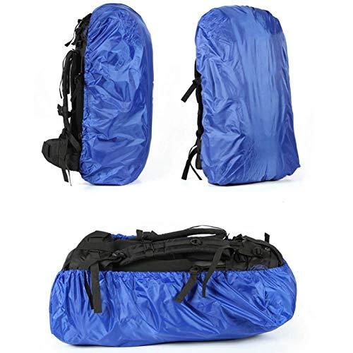 Portátil liviana duradera mochila compacta cubierta de lluvia mochila cubierta lluvia senderismo rucksack lluvia cubierta, para hombres mujeres, con fuerte banda elástica Qingchunw ( Color : Blue )