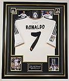www.signedmemorabiliashop.co.uk Cristiano Ronaldo - Camiseta enmarcada firmada y enmarcada del Real Madrid
