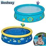 Unbekannt Bestway Kinderpool con Wassersprueher 152 X 38cm Plansch- Platillos Baño Divertido Baby, Figura: Abeja