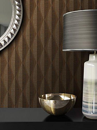 Tapete Braun Vlies in Natur-Optik | schöne, moderne, edle Tapete im Grafik-Design | für Wohnzimmer, Schlafzimmer oder Küche inklusive Newroom Tapezier-Profibroschüre mit Tipps für perfekte Wände