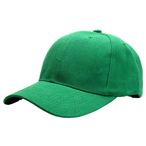Falari Baseball Cap Adjustable Size Solid Color G001-25-Kelly Green