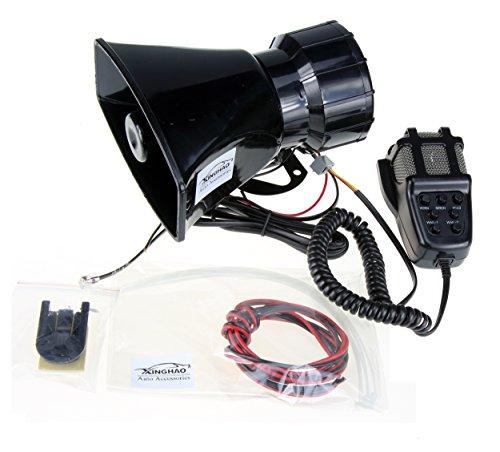 Hupen Signalhörner 12V 80W 7 Ton Sound Auto Sirene Fahrzeug Horn mit Mic PA Lautsprechersystem Notfall Sound Amplifier Auto Sirene Lautsprecher