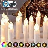 CCLIFE Vela led Árbol con mando Inalámbrica velas de navidad led colores Candle luces Mando a distancia para navidad decoracion, Color:Beis, Tamaño:20PCS