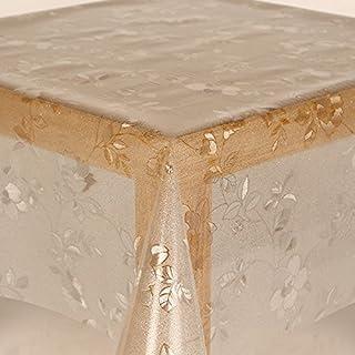 Transparent Foil Tablecloth 0,2mm Glitter Sparkle Round Oval Size Choose Colour