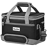 OlarHike 40/24 Can Cooler Bag Lunch Bag, Collapsible and Insulated Lunch Box Leakproof Cooler Bag for Camping, Picnic, BBQ (24-Can, Black)