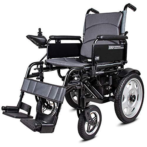 OSL Silla de ruedas eléctrica - Silla de ruedas portátil plegable con batería de polímero de iones de litio 20A - para ancianos y discapacitados Silla de ruedas inteligente automática J h