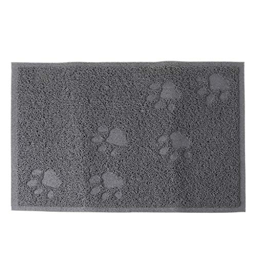SOFEA Cojín de arena para gatos, cojín de arena rectangular, duradero, diseño de huellas de gato, fácil de limpiar, algodón suave