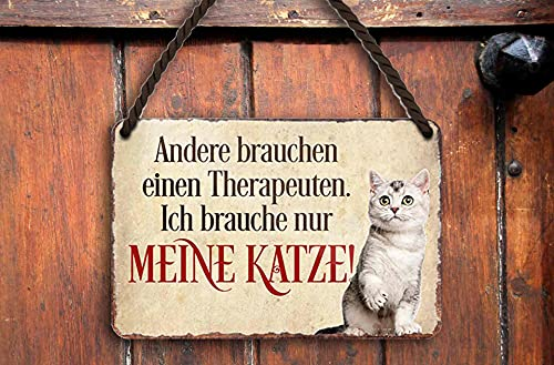 schilderkreis24 – Cartel de chapa con texto en alemán