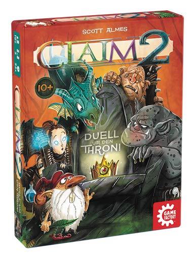 GAMEFACTORY-Claim 2, Das Duell um den Thron, Cartas, Juego de Puntadas, para 2 Jugadores, Color (Game Factory 646223)