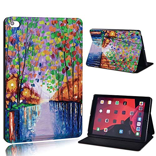lingtai For Ipad 2 3 4 5 6 7/Air 1 2 3/Pro 11 2018 2020 Pu Leather Tablet Stand Folio Cover Ultrathin Painting Colors Slim Case (Color : Multi, Size : 8th Gen (2020))