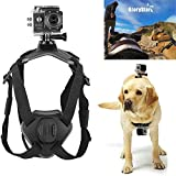 Pet Chest Strap Soft Vest with Adjustable Buckle No Pull Dog Harness with Camera Mount for Hero 8/7/ 6/5/ 4/ Dazzne P2/ SJ4000/ SJCAM/Session/Osmo Action Well
