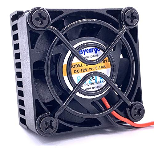Easycargo 2-Pack 40mm Heatsink Fan 12V Kit, Cooler Heat Sink 40x40mm + 12V Ball Bearing Fan + Thermal Tape + Grill Screw Mounting Kit for Cooling 3D Printer, TEC1-12706 Thermoelectric Peltier (2)