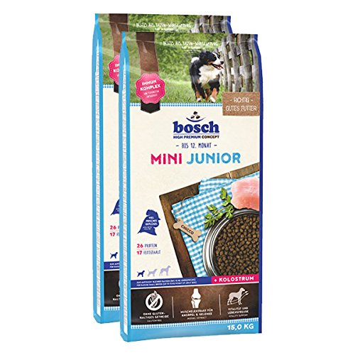 Bosch Hundefutter Verschiedene Sorten 2x15kg Mini Junior