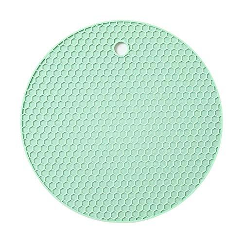 Hot Sale multifunctionele Coaster 18cm ronde hittebestendige honingraat siliconen Coaster Slip Anti-hete Pad keukengereedschap, groen, Frankrijk