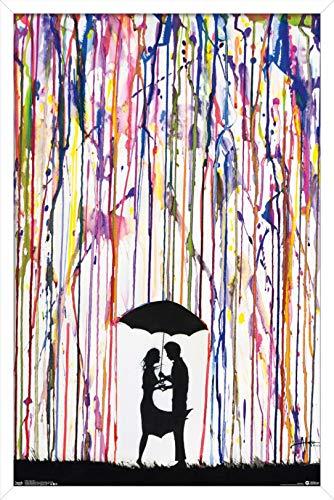 Trends International Crayon Art Wall Poster, 22.375' x 34', White Framed Version